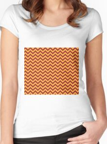 Gryffindor Chevron Women's Fitted Scoop T-Shirt