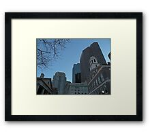 Christmas-time at Quincy Market - Boston, MA Framed Print