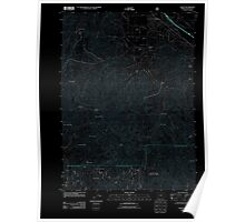 USGS Topo Map Oregon Talent 20110715 TM Inverted Poster