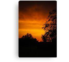 Fiery Orange Sunset Canvas Print