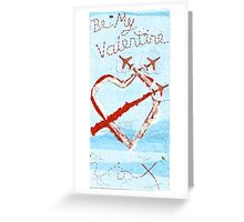 Red Arrows Valentines Card Greeting Card