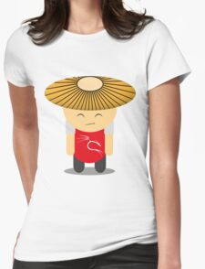 Farmer hacker Womens Fitted T-Shirt
