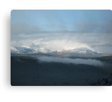 Cloudy Mountains Canvas Print