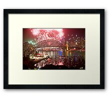 City Of Light - Sydney Harbour New Years Eve  Framed Print