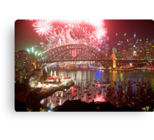 City Of Light - Sydney Harbour New Years Eve  Canvas Print