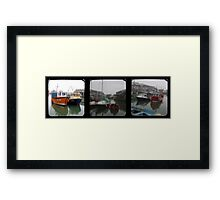 Mevagissey Harbour TTV Triptych Framed Print