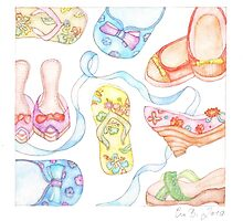 With a passion for shoes by Evawatercolours