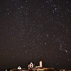 Starry Nubble Lighthouse by GarethWilton