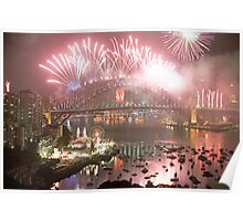 City Of Light # 2 - Sydney Harbour New Years Eve  Poster