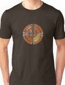 Round red crucifix Unisex T-Shirt