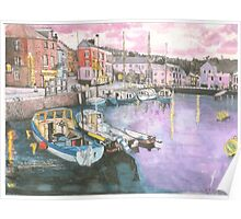 Dusk at Padstow Poster