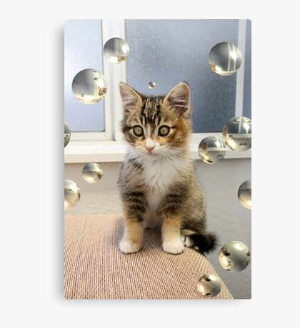 Mallory and her Bubbles Canvas Print