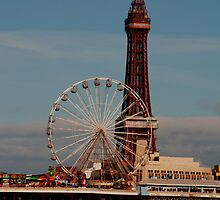 Blackpool Tower and Big Wheel by Peter Elliott