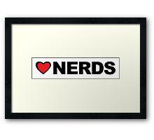 Love Nerds Framed Print