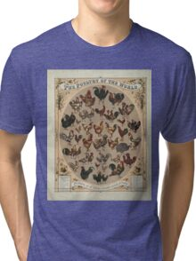 Poultry of the World (1868) Tri-blend T-Shirt