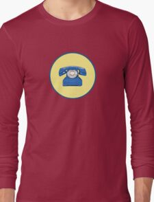 Phone Blu Long Sleeve T-Shirt