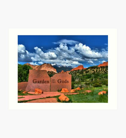 Garden of the Gods and Pikes Peak Art Print