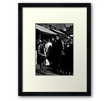back to black  Framed Print