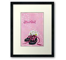 Girlie Sneakers Framed Print