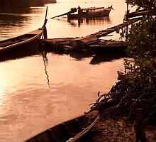 Sailing at dawn by Kerry Dunstone