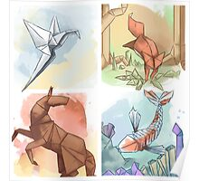 The Elements of Origami Poster