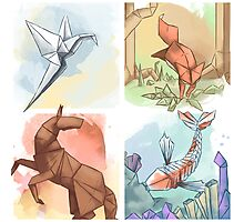The Elements of Origami Photographic Print