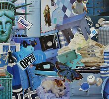 Blue Life in Collage by tartanink