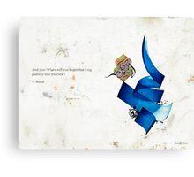 Arabic calligraphy - Rumi - journey into self Canvas Print