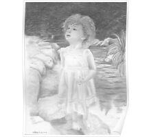"""""""Innocence Springs Eternal"""" Little girl by a stream Poster"""