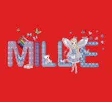 MILLIE / personalised name illustration One Piece - Short Sleeve