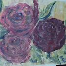 watercolors and oils of roses..... by jacquigrieve