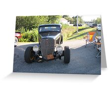 Old Auto,Black Greeting Card