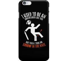 Arrow In the Knee 2.0 iPhone Case/Skin