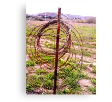 """""""Wire Halo"""" Metal Print"""