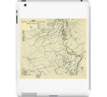 World War II Twelfth Army Group Situation Map October 7 1944 iPad Case/Skin