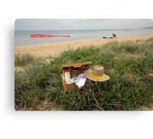 Picnic on Mornington beach Canvas Print