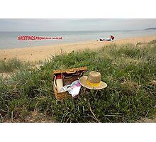 Picnic on Mornington beach Photographic Print