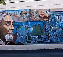 Train Mural by Tim Denny