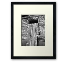 Did You Remember to Lock the Door? Framed Print