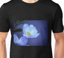 Delicate Flower on Blue Unisex T-Shirt