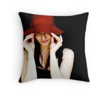 Broken Hat Throw Pillow