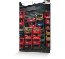Cola Crates Greeting Card