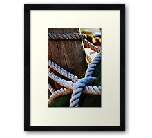 Cable Stitch Framed Print