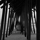 Kure Beach Pier Triptych II by mojo1160