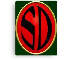 Strontium Dog Badge Canvas Print