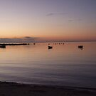 Dawn Over Three Boats by Sarah Mosbey