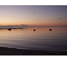 Dawn Over Three Boats Photographic Print