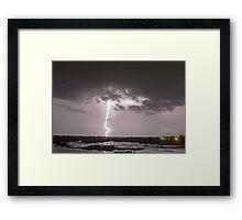 """Lake  """"O"""" lightning Framed Print"""