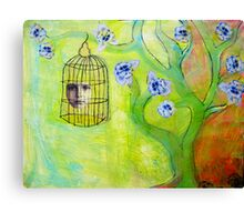 tree and bird Canvas Print