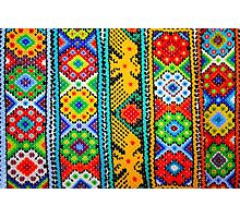 Colourful Mexican Bracelets  Photographic Print